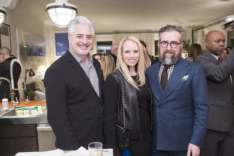 Sean Sullivan of the Hearst Design Group;  Kelly Sinatra of Benjamin Moore; and Clint Smith