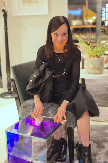 Edie Cohen with Rottet Studio's Dichroic table