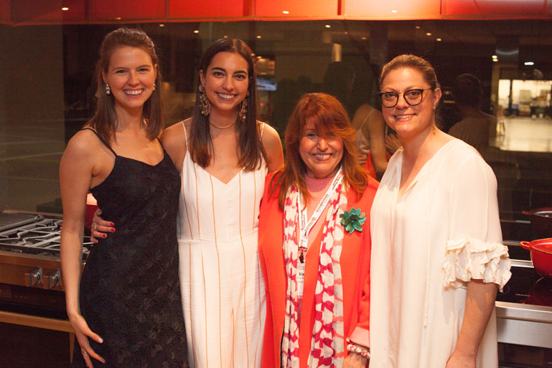 Traditional Home editors Julianne Hilmes, Clara Haneberg and Jill Waage with design writer and consultant Elaine Markoutsas (second from right)