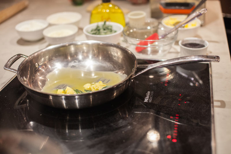 Utilization of the Miele Induction Cooktop during the cooking demonstration