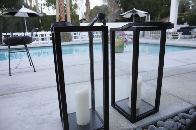 Garnet Hill wooden lanterns with antiqued finish