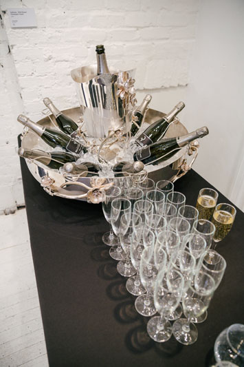 Guests were treated to Champagne.