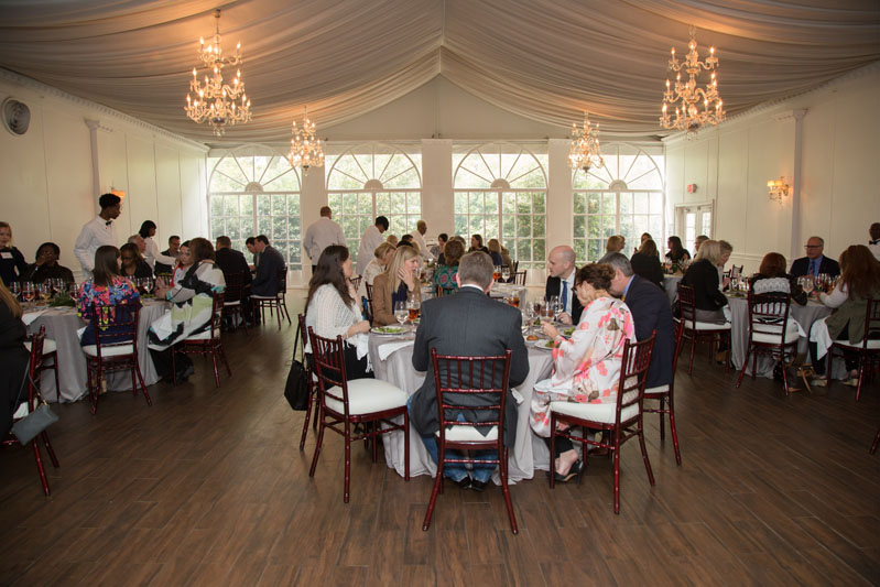 Guests enjoy lunch and conversation