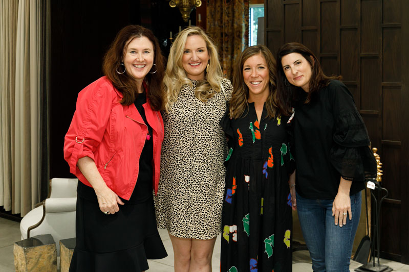 Betsy Berry (second from right) and her team from B. Berry Interiors are all smiles at the Southeast Designers & Architect of the Year Finalists celebration at the Jim Thompson showroom.