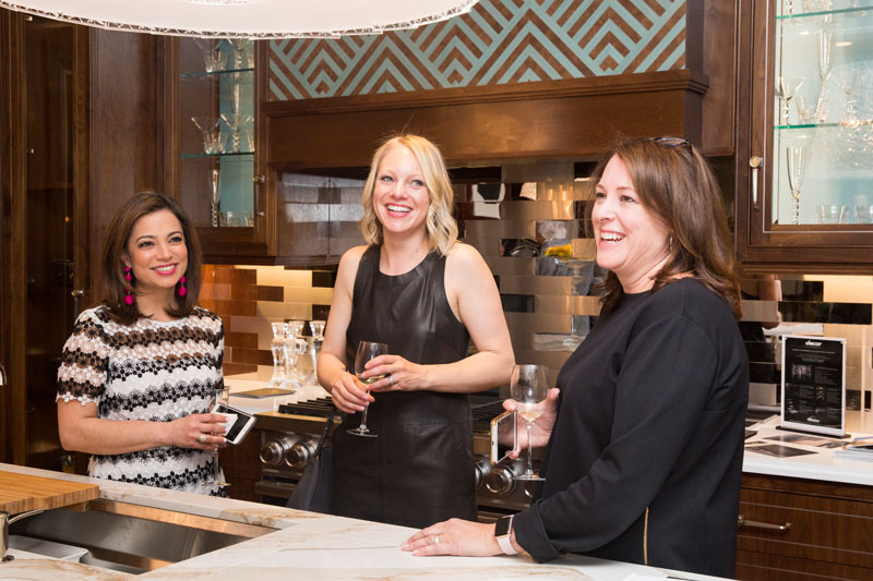 Nazira Handal of Kips Bay with Kohler's Betsy Froelich and Beth Bouck