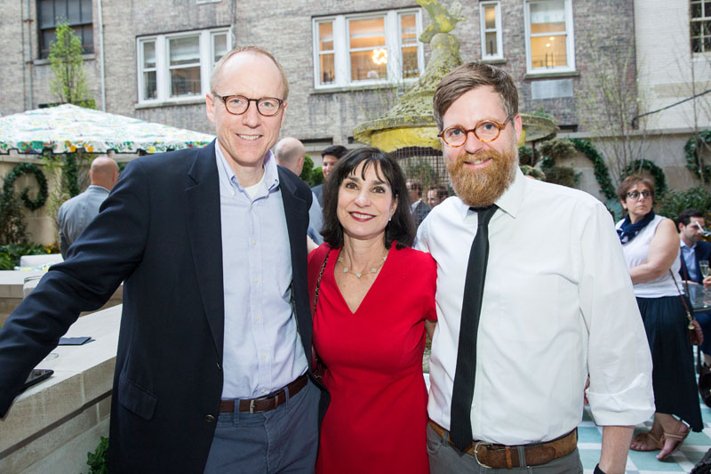 House Beautiful's Brenda Saget, with Kohler's John Engberg (left) and Camm Rowland