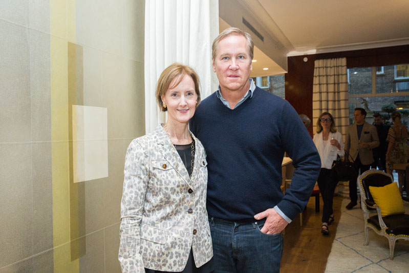 Hearst Design Group's Kate Kelly Smith with James Huniford