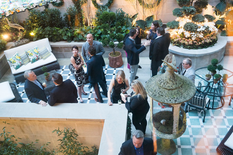 Guests mingled in the garden designed by Mario Nievera of Nievera Williams.