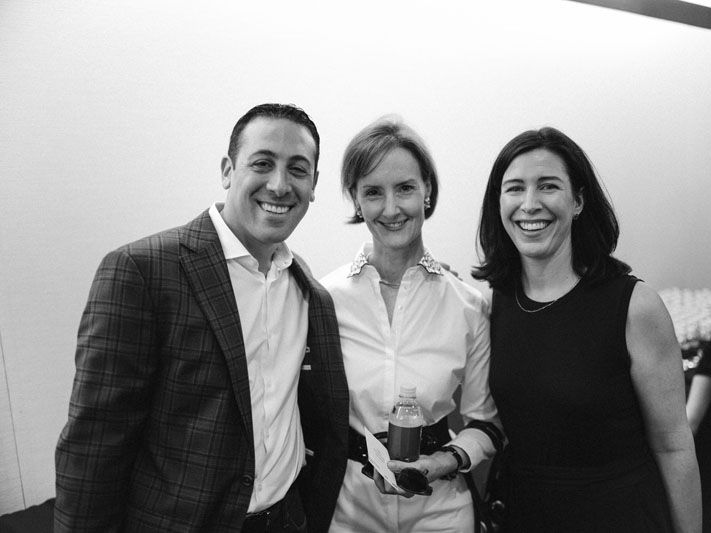 Philip Bershad of Phillip Jeffries, Kate Kelly Smith of Hearst Design Group, and Katie Brockman
