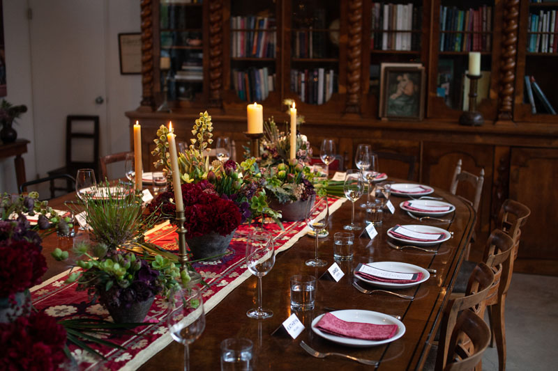 Forty guests enjoyed a seated dinner.