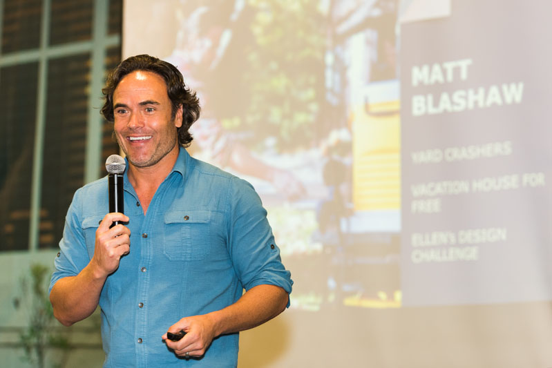 Presenting four standing-room-only seminars, celebrity designer Matt Blashaw presented 'Dream It ... Build It: Designing the Backyard of your Dreams.'