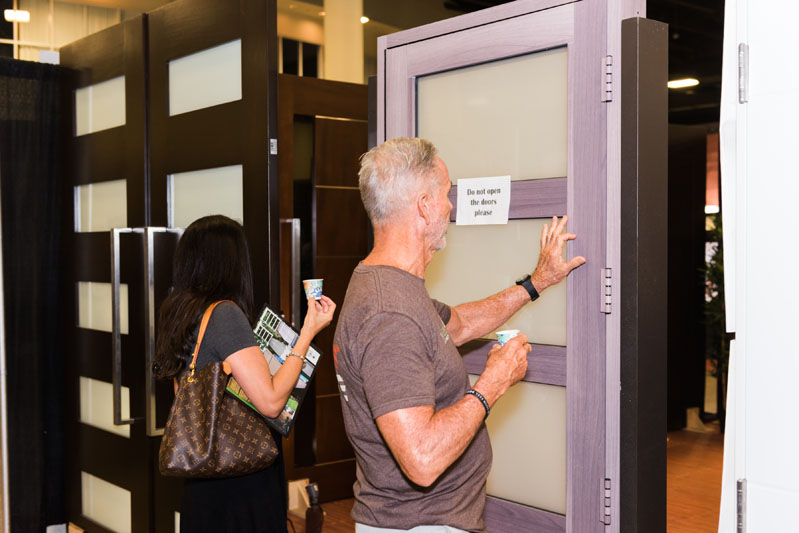 Examining a display door