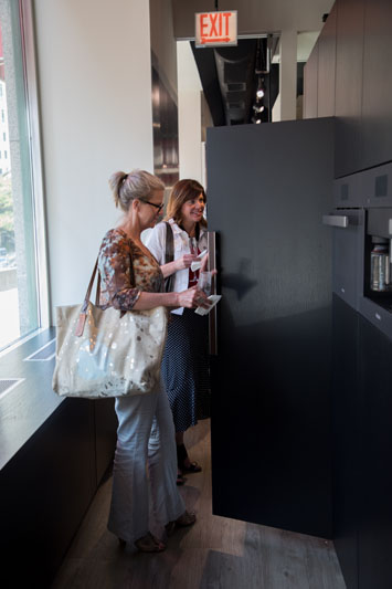 Guests touring the Miele Chicago Experience Center