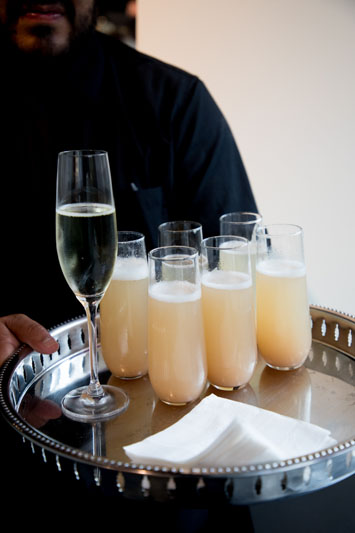Speciality cocktails: Peach Bellinis
