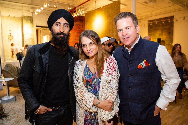 Waris Ahluwalia, Amy Ilias and Paul Austin