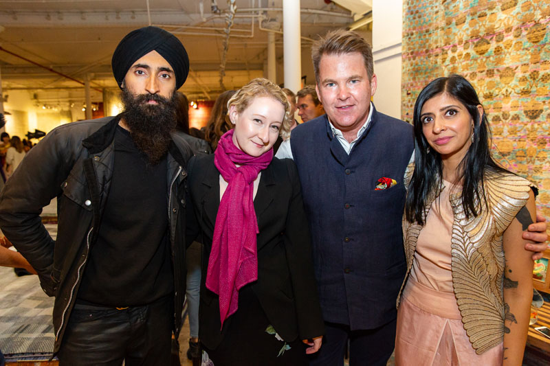 Waris Ahluwalia, Sarah Brown, Paul Austin and Kavi Moltz