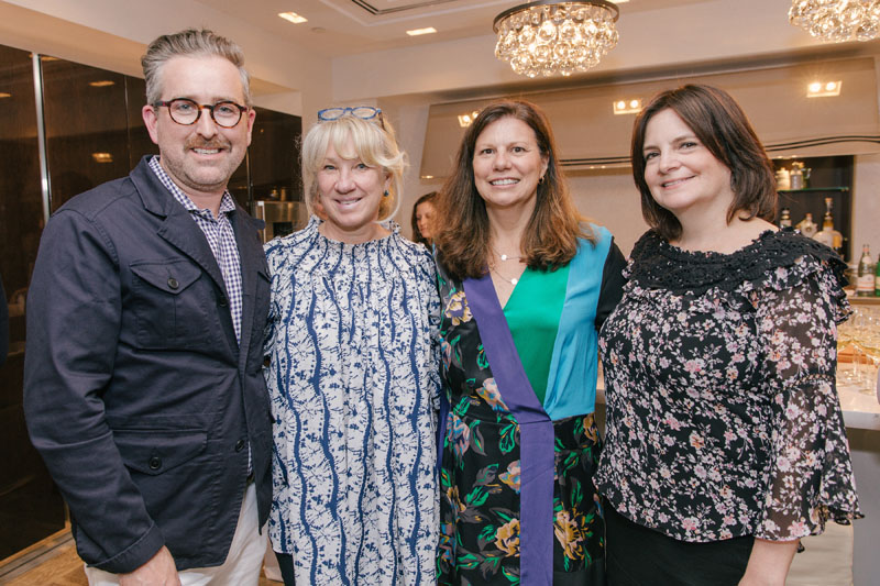 Veranda's Clinton Smith and Carolyn Englefield; Kim Huebner; and SieMatic's Janine Flamer