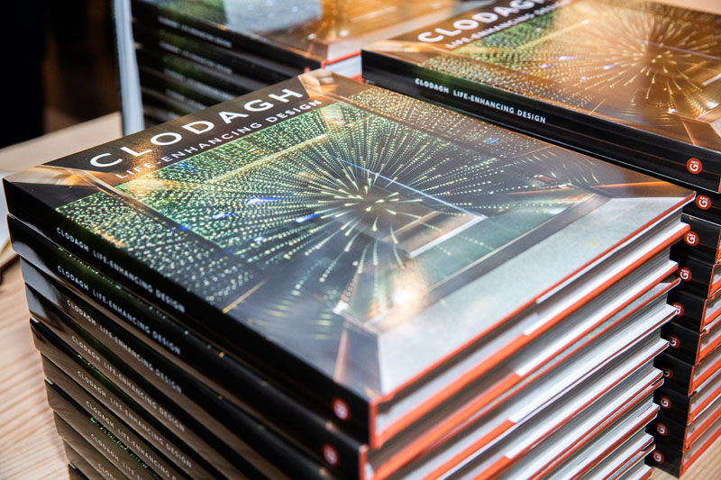 Copies of 'Clodagh: Life-Enhancing Design' were on hand to be signed.