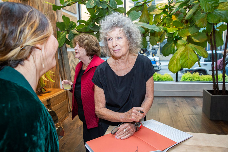 Clodagh signed copies of her new book, 'Clodagh: Life-Enhancing Design,' for guests.