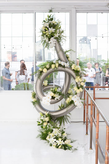Special Installation by Flowers and Creations.