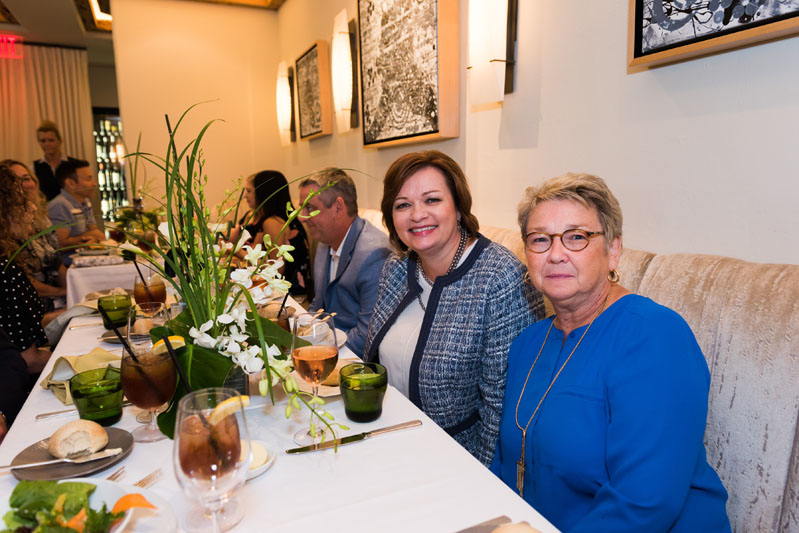 Gosia Fedele and Luba King enjoying lunch at the Auth Lux Summit lunch in Café Boulud.