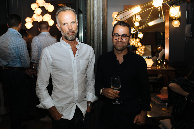 Gallery owners Scott Richler and Gabriel Kakon