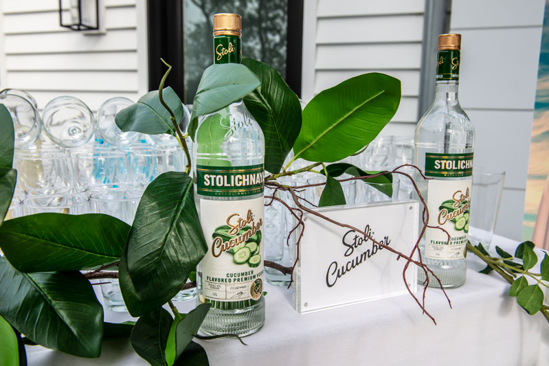 Guests enjoyed a Stoli Cucumber bar.