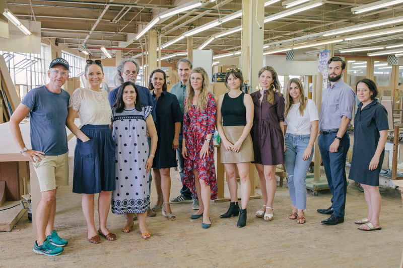 Carl Sorenson of Nanz Hardware, Katy Olson, Marisa Marcantonio, Anthony Morris, Kendra Frisbie, Simon and Kati Curtis, Amanda Ellis, Andrea Coulter, Celina Wright, Keane Ryan of DECASO, and  Christine Miele