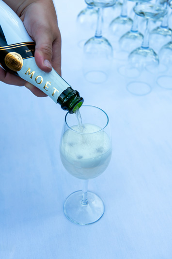 Guests enjoyed Moët & Chandon Champagne.