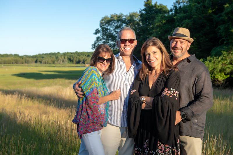 Guests on the East Hampton grounds.