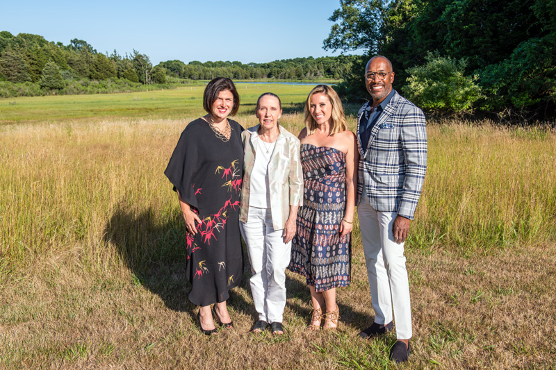 Beth McDonough, Helen Harrison, Jaime Rummerfield and Ron Woodson