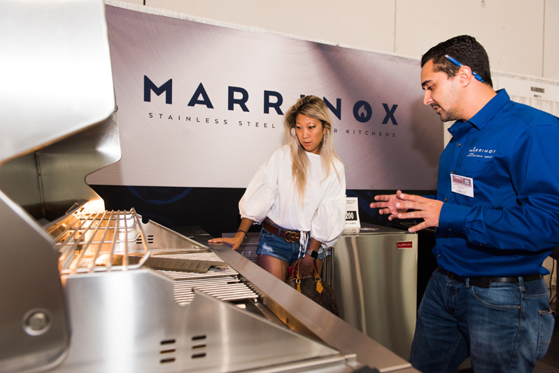 Marrinox was one of several exhibitors at the show.