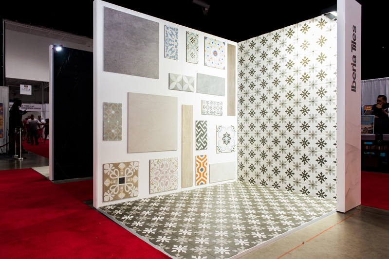 Iberia Tiles's display at this year's show.