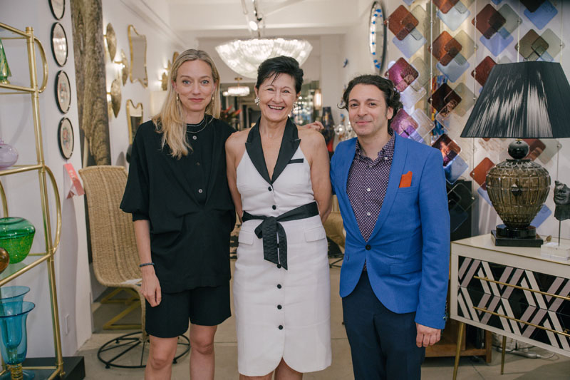 Katie Lydon, Fabienne Cosulich and Garrow Kedigian at Cosulich Interiors & Antiques