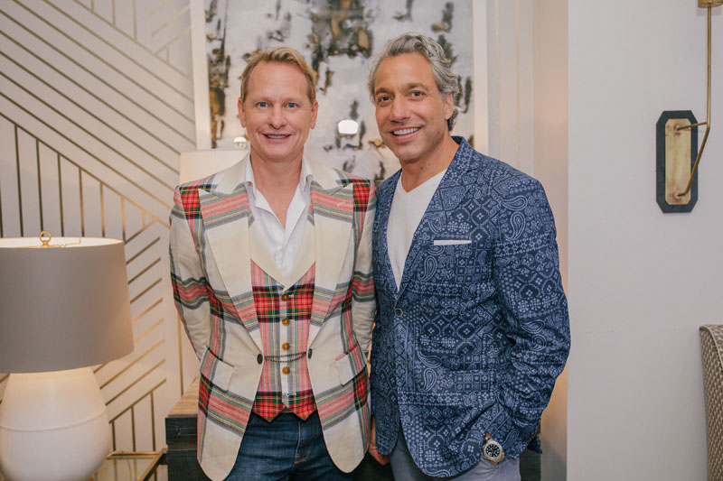 Carson Kressley and Thom Filicia brought the house down introducing their new Bravo series 'Get a Room With Carson & Thom' at Sedgwick & Brattle.