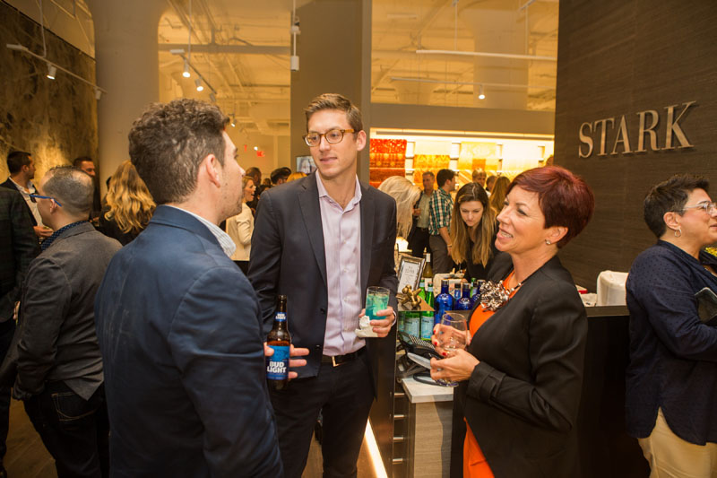 Chad Stark welcomed designers to the newly reimagined trade showroom.
