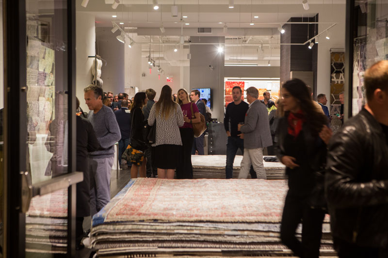Designers mixed and mingled as the first day of Fall Market at the BDC drew to a close.