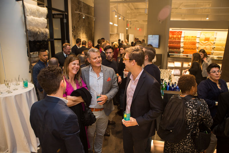 Senior Vice President Chad Stark (right) and New England Regional Manager Rob Bagshaw welcomed designers to the newly reimagined trade showroom.