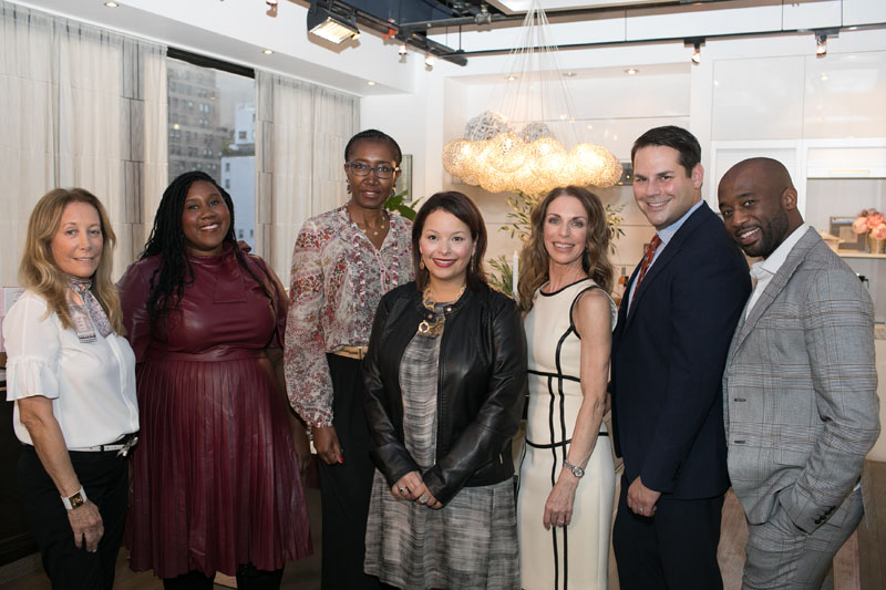 Traditional Home senior style editor Krissa Rossbund (center) with designers (from left) Dayle Bass, Jacqueline Moore-Hill, Doreen Chambers, Kate Singer, Scott Hirshson and Mikel Welch