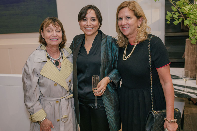 Liz Nightingale and Thais Roda, with Janice Browne of Galerie magazine