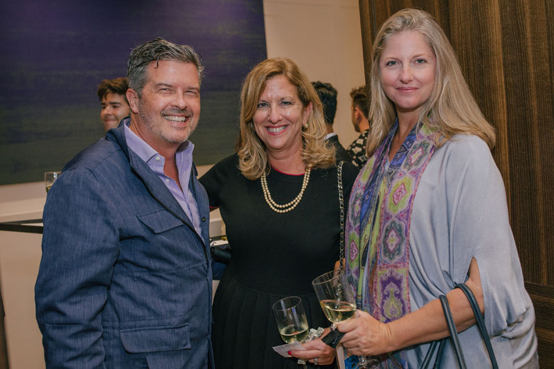 David Harris and Janice Browne, with Michelle Blair of Luxe Interiors + Design