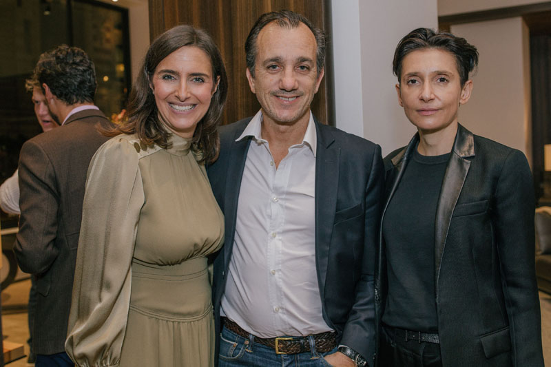 Anne Schuhmacher of Liaigre (left) with Delphine Krakoff (right).
