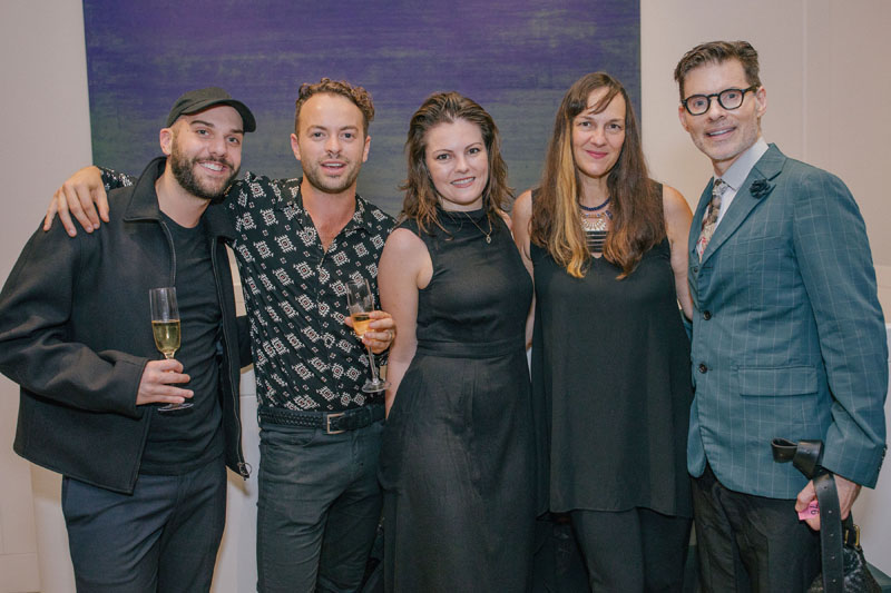 Will Hoffman with Erika Heet of Interiors magazine (second from right) and designer Thomas Lavin (right).