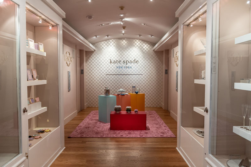 The front of the Lenox showroom, featuring Kate Spade New York