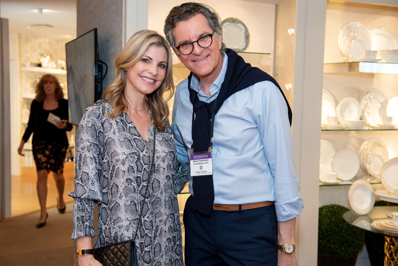 Lory of 'To Have + To Host,' with interior designer Brian Gluckstein