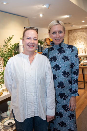 Nicola Glass, creative director of Kate Spade New York (right), with Deborah Camplin, Kate Spade New York's SVP of Design