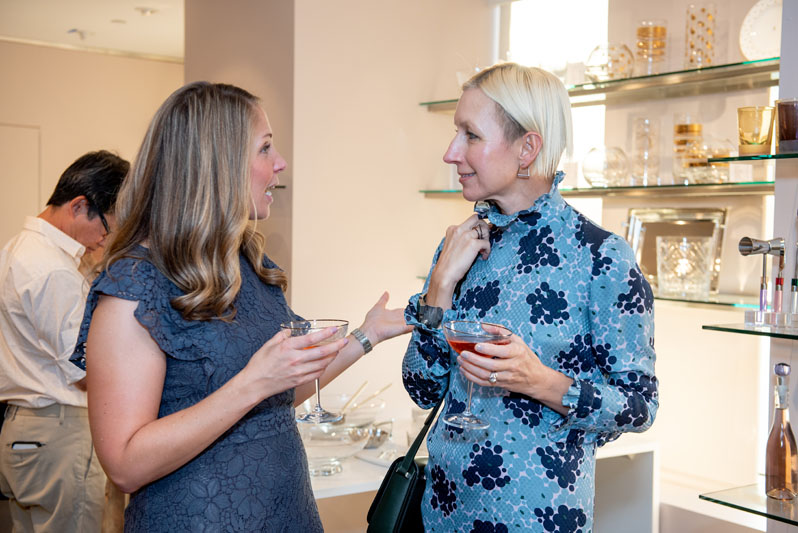 Laura Jaussi of Lenox and Nicola Glass, creative director of Kate Spade New York