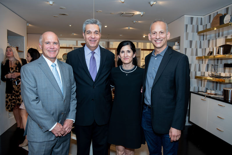Brian Gowen, Jim Mylonas and Michele Barbone, with designer Michael Wainwright
