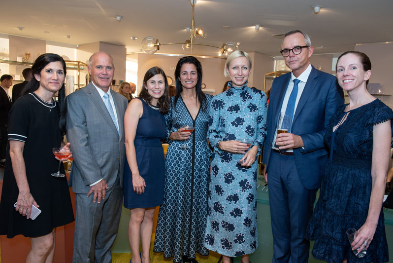 Michele Barbone and Brian Gowen of Lenox Corporation; Charlotte Warshaw, Anna Bakst, Nicola Glass of Kate Spade New York; and Mads Ryder (second from right)