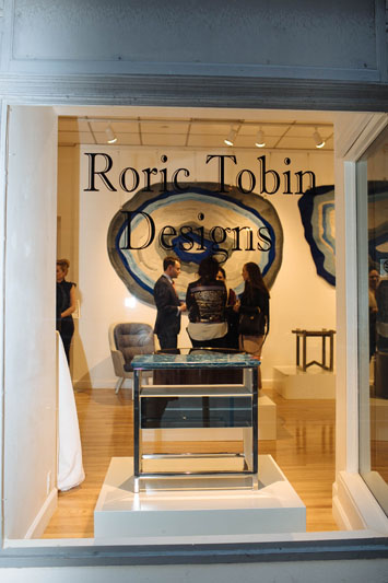 The window to the Roric Tobin Designs pop-up